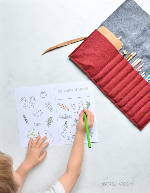 free vegetable coloring books for kids