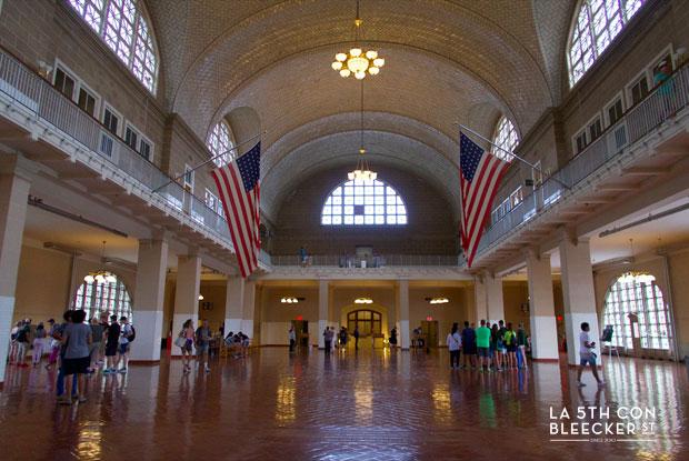 Estatua de la Libertad interior museo Ellis Island