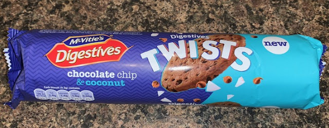 McVities Digestives Twists - Chocolate Chip and Coconut
