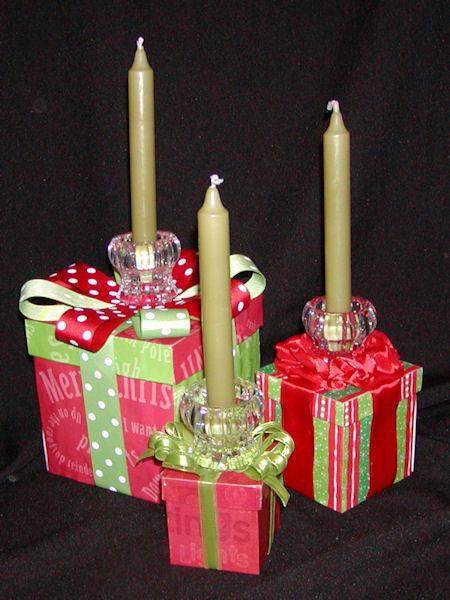 como fazer candelabro para a ceia de natal