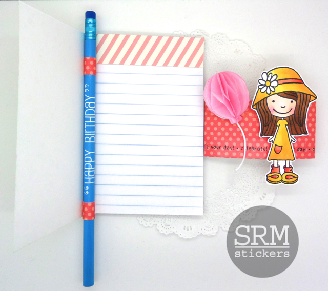 SRM Stickers Blog - Let's Celebrate by Annette - #birthday #gift #clearcontainer #punchedpieces #stickers #fancystickers #borders #labels #clearbox #pencils #clearstamps #janesdoodles