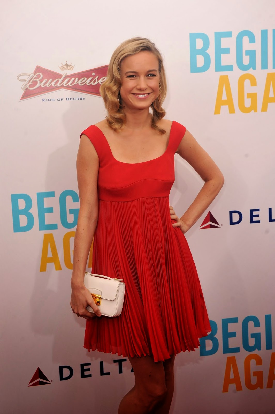 Brie Larson in Prada – 'Begin Again' Premiere in New York City