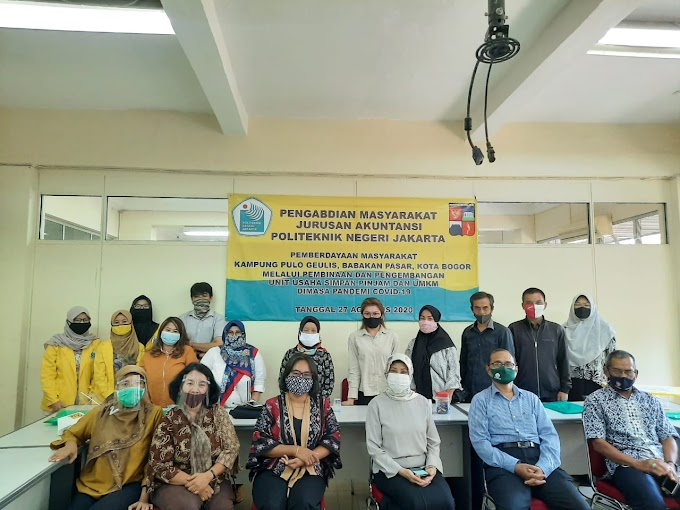 PNJ Berikan Pembinaan dan Pengembangan Unit Usaha Simpan Pinjam Warga Pulo Geulis