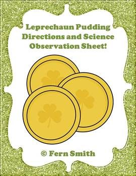 #FREE Leprechaun Pudding Directions and Science Observation Sheet!