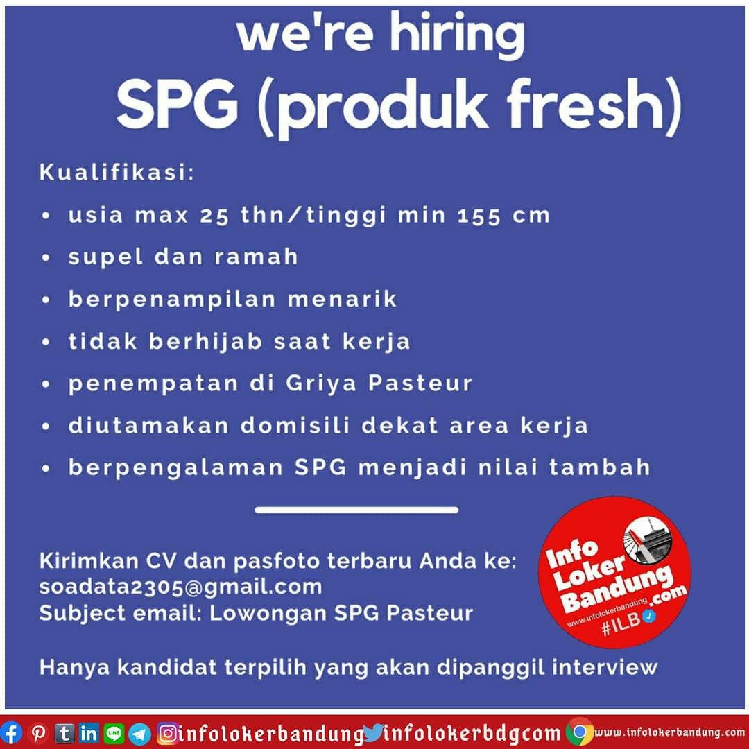 Lowongan Kerja SPG ( Produk Fresh ) Bandung Juli 2020