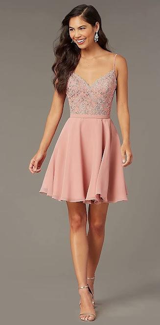 Beautiful Short Chiffon Bridesmaid Dresses