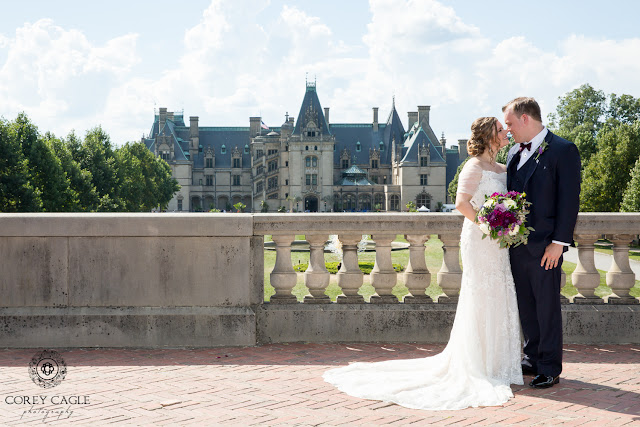 Wedding photos at the Biltmore House