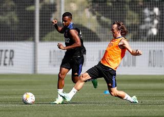Quinto entrenamiento de la semana en la Ciudad Real Madrid