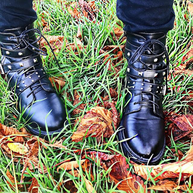 Boohoo Stud and Buckle Boots Lizzi Richardson
