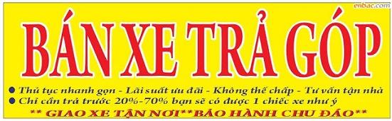 Bán xe máy củ trả góp - tại Hồ Chí Minh