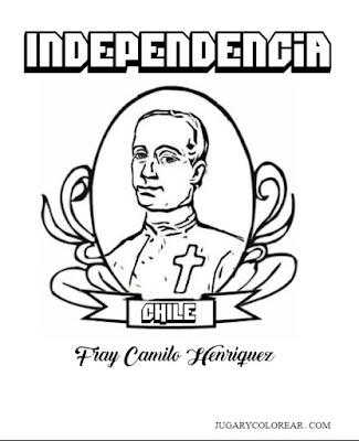 Camilo Henríquez para colorear
