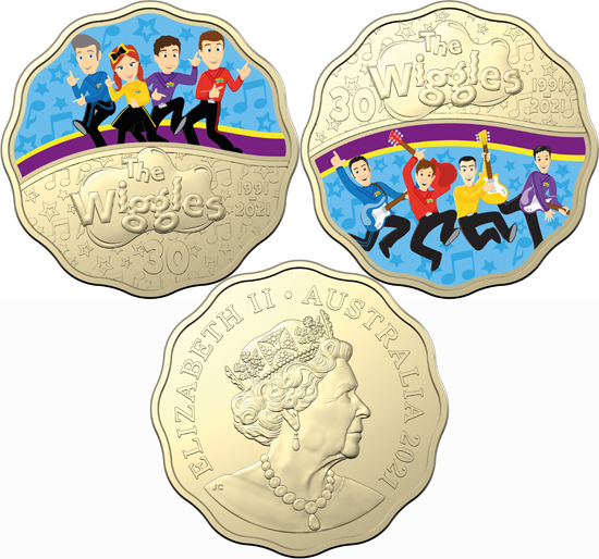 Australia 30 cents 2021 - 30 Years of The Wiggles