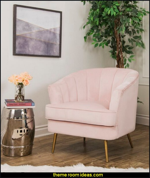 Marilyn Barrel Chair blush pink decor blush pink decorating