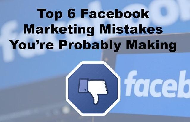 mistakes avoid facebook marketing social media ad error