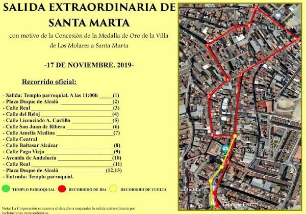Salida Extraordinaria de Santa Marta, Patrona de Los Morales (Sevilla). 17 de Noviembre del 2019