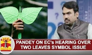 Pandey on EC's hearing over 'Two Leaves Symbol Issue'   Thanthi Tv