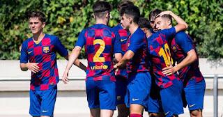 Barca U19 team defeat professional league team Badalona