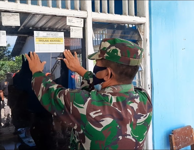 Tanda Isoman Dipasang, Satu Desa Kecamatan Kalimanah Lokdown