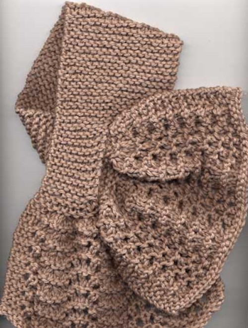 Criss-Cross Lace Scarf - Knit Pattern