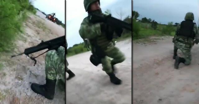 """VIDEO; Militares muestran video del enfrentamiento contra sicarios de """"El Mencho"""" en limites de Jalisco."""