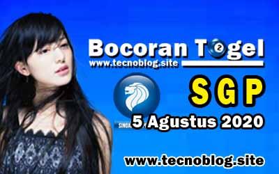 Bocoran Togel SGP 5 Agustus 2020
