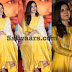 Raashi Khanna Bright Yellow Silk Churidar
