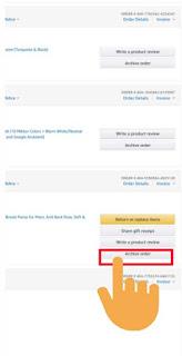 archive amazon order mobile app 2021