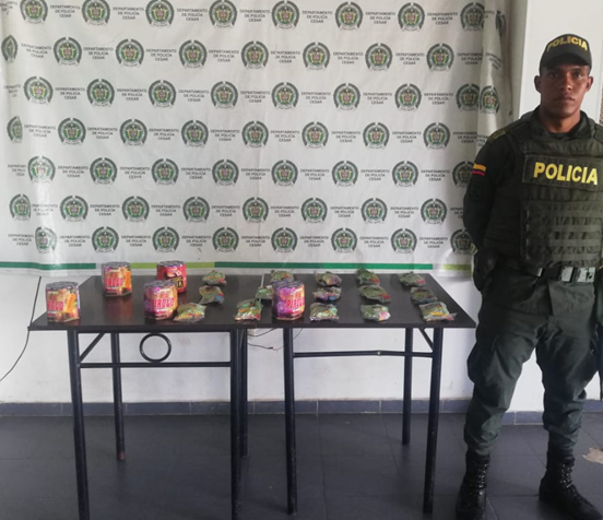 Policía se incautó 10 kilos de pólvora