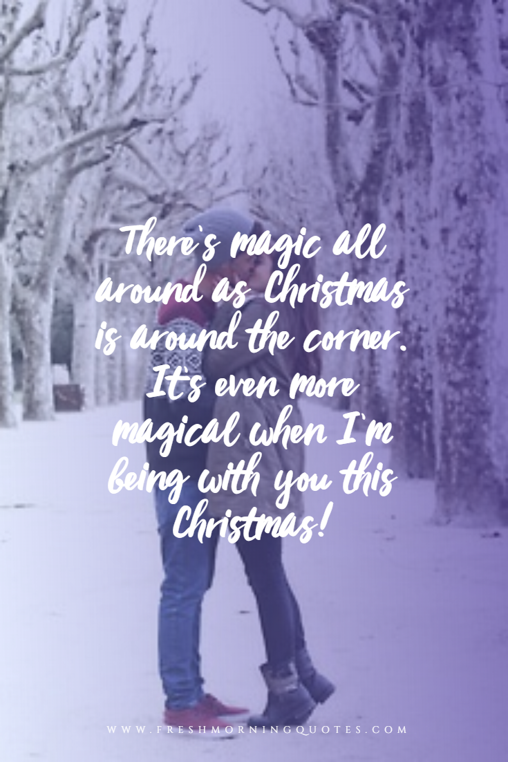there is magic all around as Christmas is around