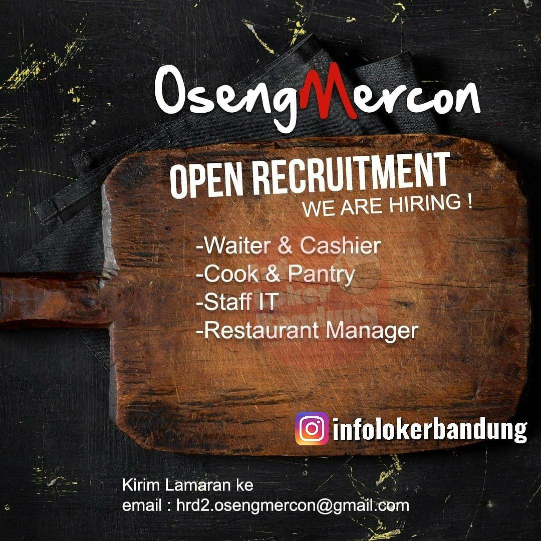 Lowongan Kerja Oseng Mercon Bandung Juni 2019
