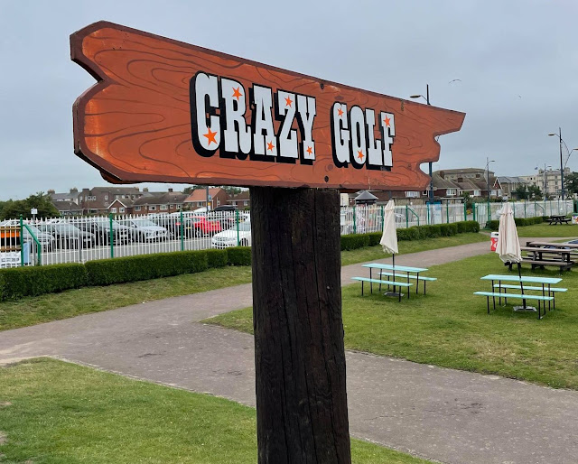 Crazy Golf at the Pleasure Beach Gardens in Great Yarmouth. Photo by Christopher Gottfried, June 2021