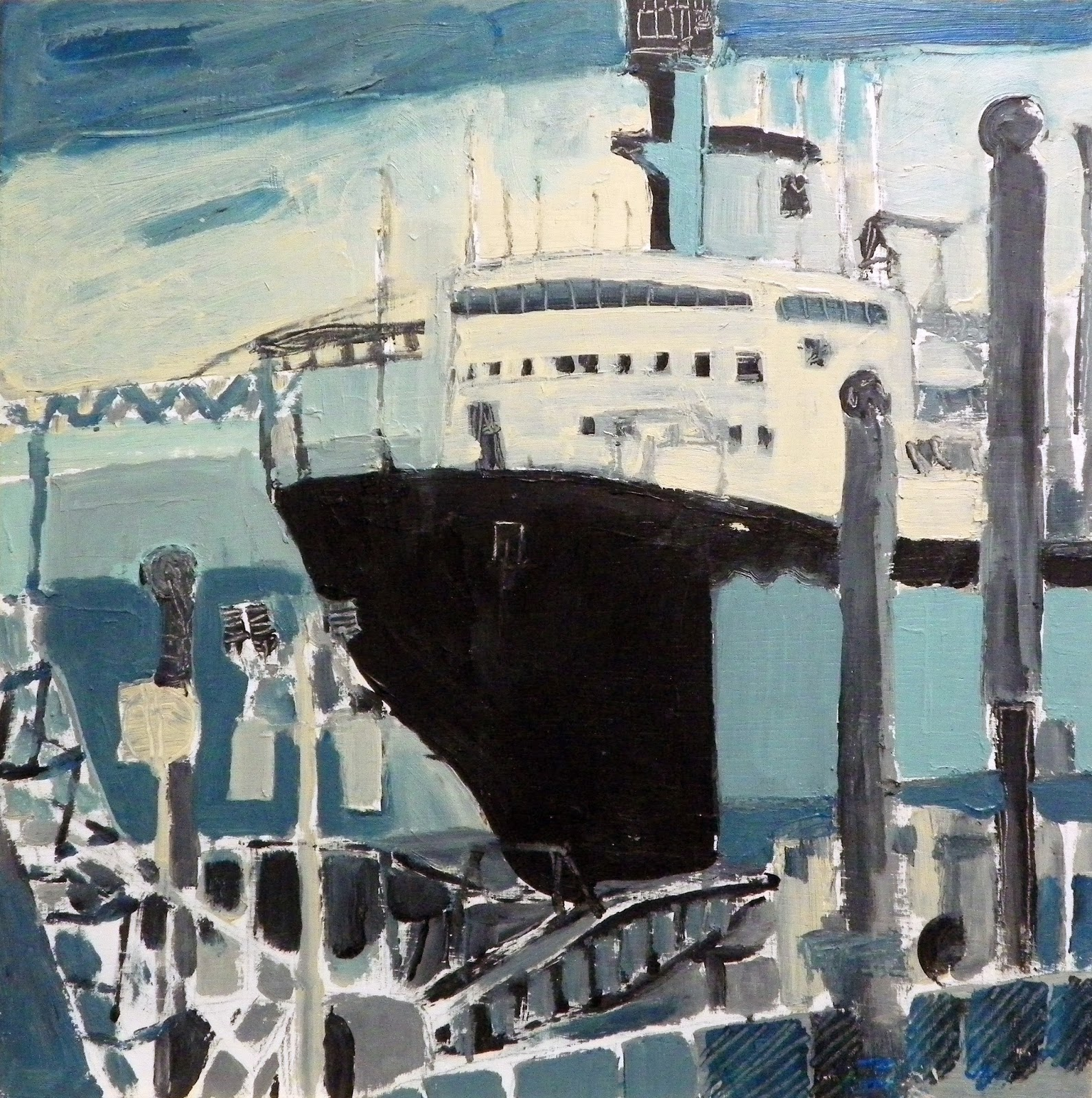 Brian Sloan, artist, painting, art, acrylic paint, Halifax Harbour 2