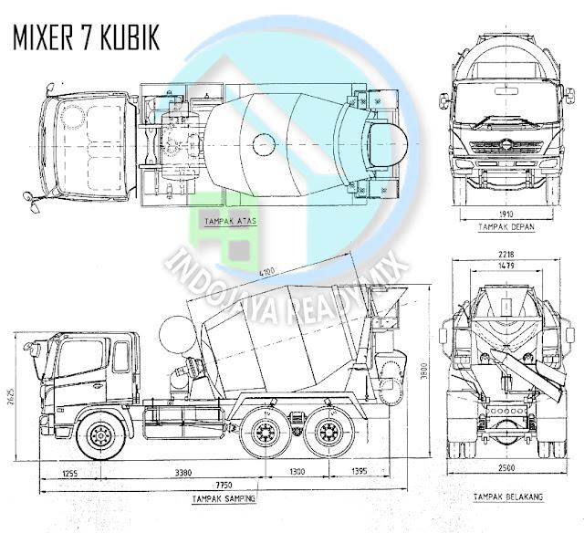 Truk Mixer Standar