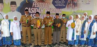 Wakil Walikota Jambi Secara Resmi Membuka Festival Qasidah Rebana Dan Asmaul Husna Dalam Memperingati 1 Muharram.