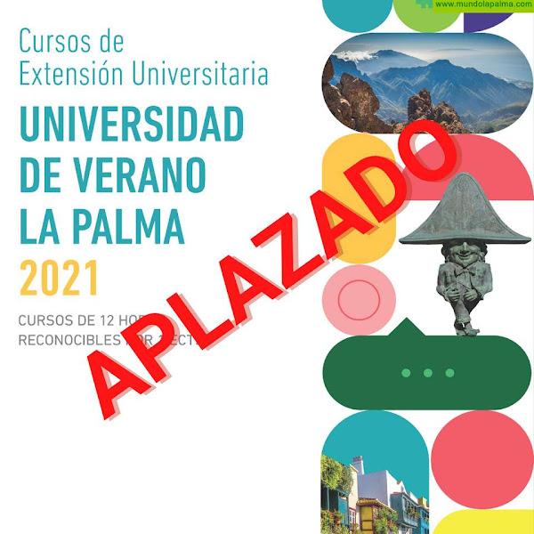 La Universidad de Verano de La Palma se aplaza hasta septiembre debido a la situación sanitaria
