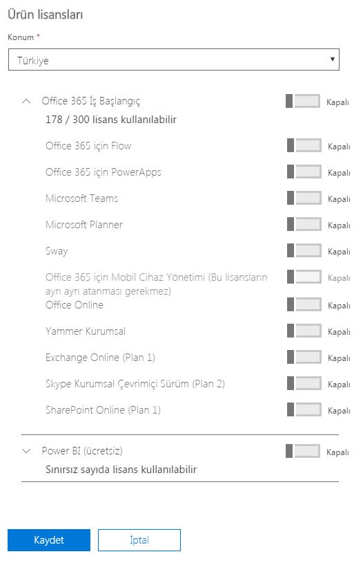 Office 365 Lisans Atama