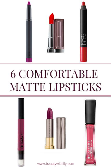 Comfortable Matte Lipsticks That WON'T Dry Your Lips | beautywithlily.com