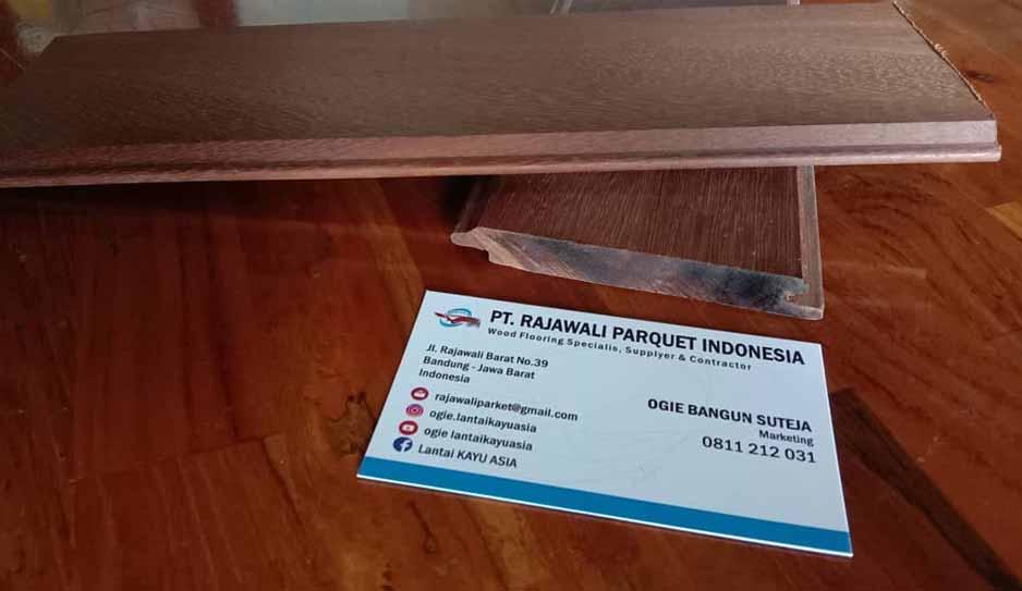 kartu nama penjual kayu ulin