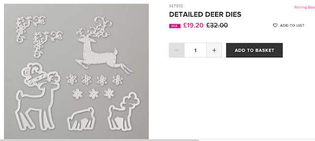 Detailed Deer dies Stampin Up