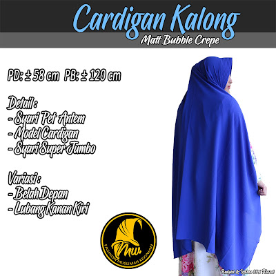 Khimar Bubble Crepe Model Cardgian Syari Super Jumbo