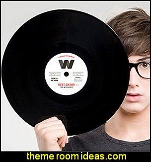 Retro Record Black Vinyl Table Mat