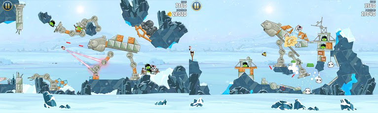 Angry Birds Star Wars Episode V: Hoth gameplay