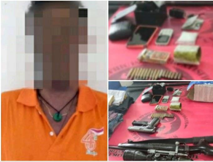 Lengkapi Diri Dengan Senjata Api, Pria Ini Bawa Narkoba Dari Lombok Masuk Sumbawa