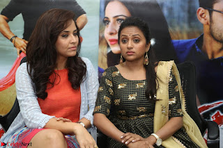 Actress Suma in Black Salwar Suit and Anusuya in orange Dress at winner movie press meet part 2 February 2017 (65).JPG