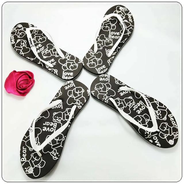 grosirsandalmurah.net-Sandal Wanita-Love Bear Cewe Simplek