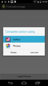 How to Android Pick/Select images from gallery - Code