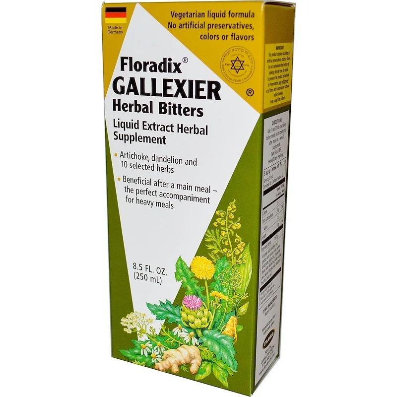 Flora, Травяная настойка Floradix Gallexier, 8,5 250 мл