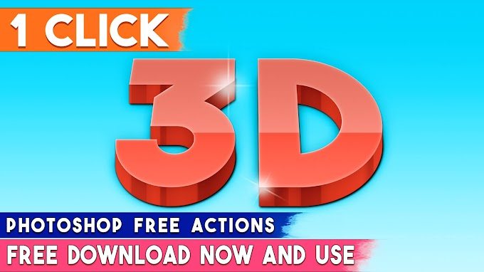 1 Click Make 3D Text Effect or 3D Logo by Photoshop Actions