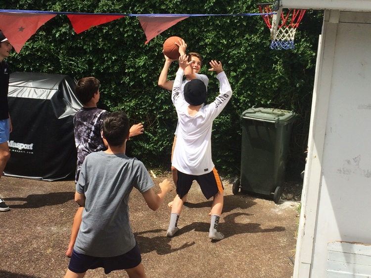 Backyard B-Ball is lit