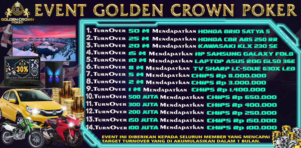Golden Crown Poker Online Asia | Poker BO Online, Agen